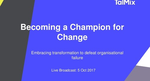 Becoming a Champion for Change