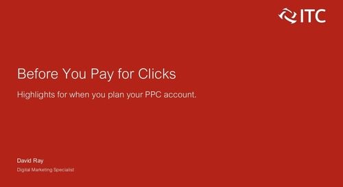 Before You Pay for Clicks