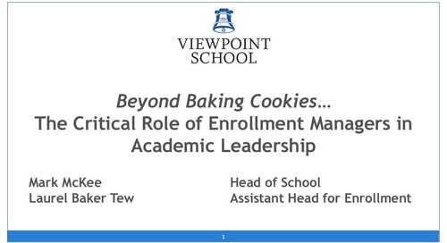 Beyond Baking Cookies: The Critical Role of Enrollment Managers in Academic Leadership