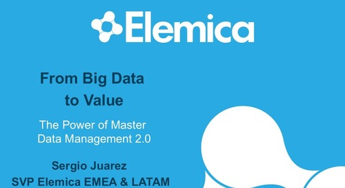 "reveal2014 EU Sergio Juarez, Elemica – ""From Big Data to Value: The Power of Master Data Management"""