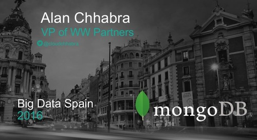 Big Data Spain 2016: Keynote