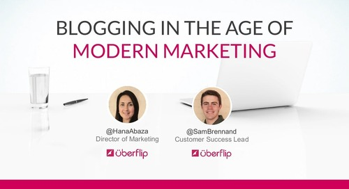 Blogging In The Age Of Modern Marketing