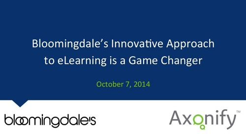 Webinar: Bloomingdale's Innovative Approach to eLearning is a Game Changer