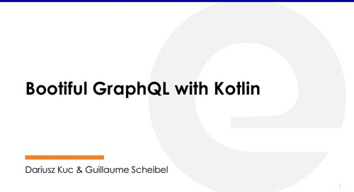 Bootiful GraphQL with Kotlin