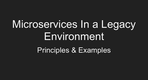 Bootiful Microservices in a Legacy Environment: Lessons Learned