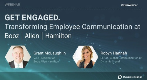 Get Engaged. Transforming Employee Communication At Booz Allen Hamilton