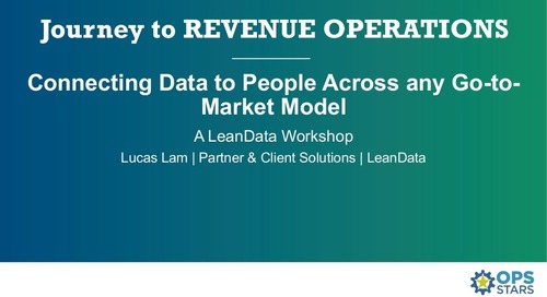 [Workshop] Connecting Data to People Across Any Go-to-Market Model