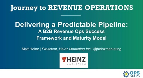 [Session] A B2B Revenue Ops Success Framework and Maturity Model