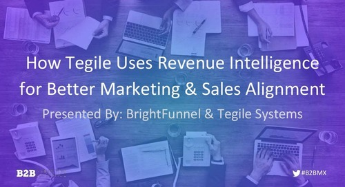 How Tegile Uses Revenue Intelligence for Better Marketing & Sales Alignment
