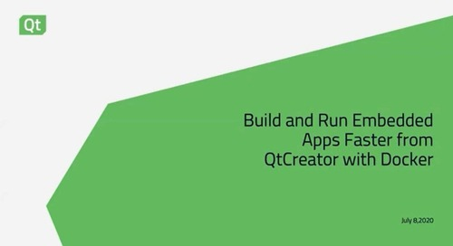 Build and run embedded apps faster from qt creator with docker