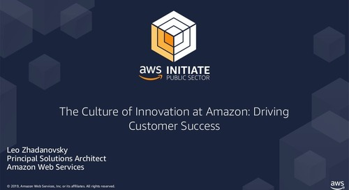 The Culture of Innovation at Amazon Driving Customer Successes