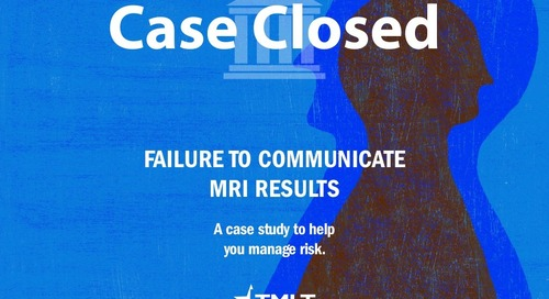 Failure to communicate MRI results