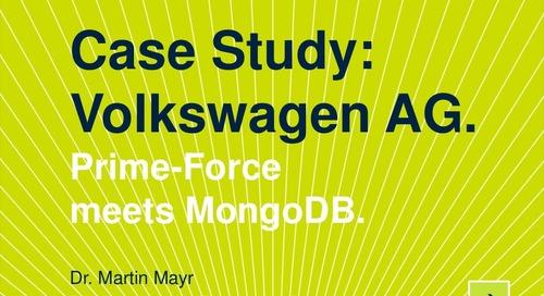 Case Study Volkswagen AG Prime-Force meets MongoDB