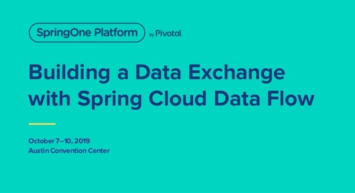 Building a Data Exchange with Spring Cloud Data Flow