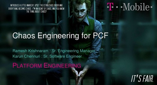 Chaos Engineering for PCF