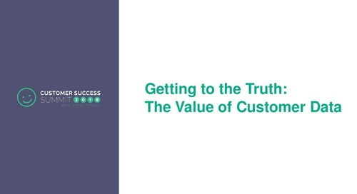 The Value of Customer Data