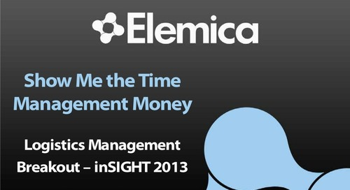 "inSIGHT 2013 Cindi Hane – Logistics Management  ""Show Me the Time Management Money"""