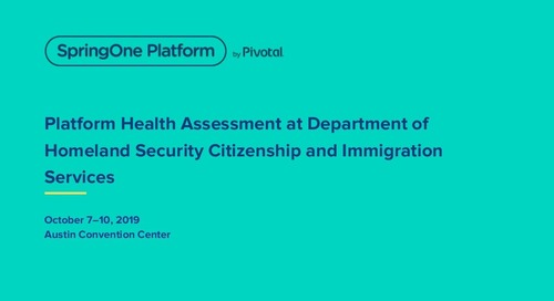 Platform Health Assessment at Department of Homeland Security Citizenship and Immigration Services
