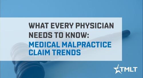 Medical malpractice claim trends