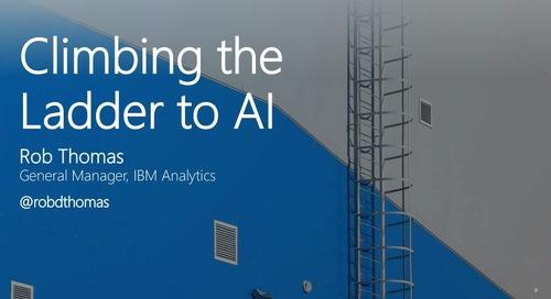 MongoDB World 2018: Partner Talk - IBM: Climbing the Ladder to AI