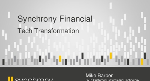 Cloud Native Journey in Synchrony Financial
