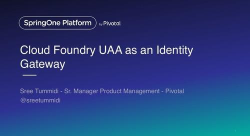 Cloud Foundry UAA as an Identity Gateway