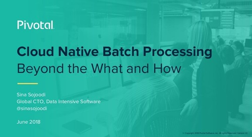 Cloud Native Batch Processing: Beyond the What and How