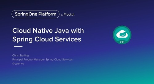 Cloud Native Java with Spring Cloud Services