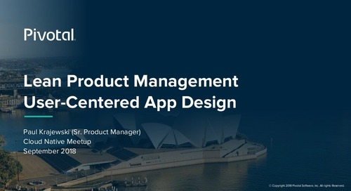 Lean Product Management User-Centered App Design