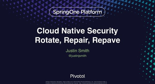 Cloud-Native Security: Rotate, Repair, Repave