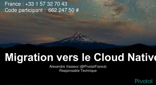 Migration vers le Cloud-Native