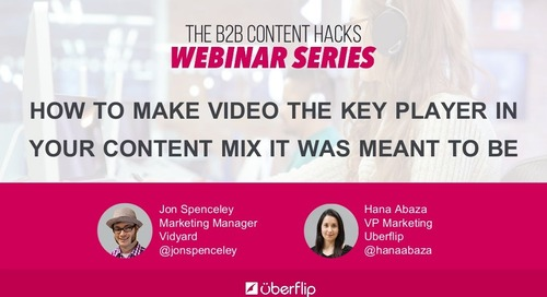 How to Make Video the Key Player In Your Content Mix It Was Meant to Be