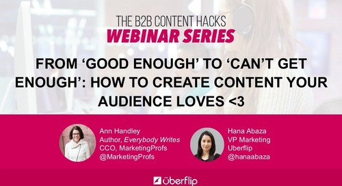 From 'Good Enough' to 'Can'€™t Get Enough': How to Consistently Create Content Your Audience Loves