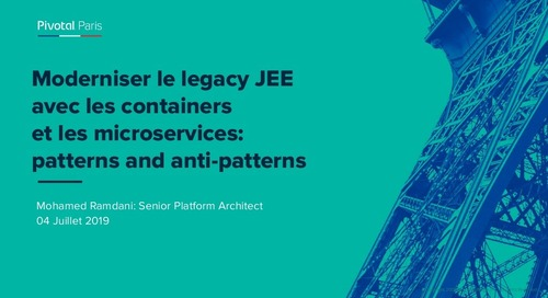 Moderniser le legacy JEE avec les containers et les microservices: patterns and anti-patterns