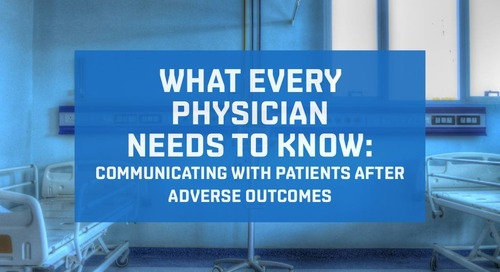 Communicating with patients after adverse outcomes