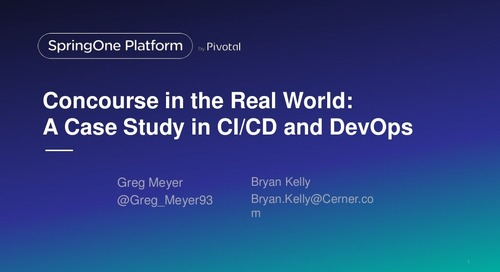 Concourse in the Real World: A Case Study in CI/CD and DevOps