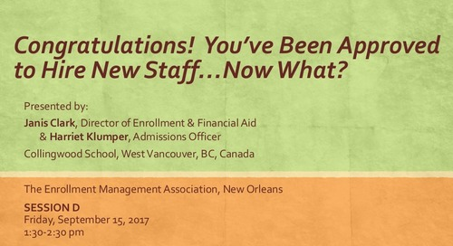 Congratulations! You've Been Approved to Hire New Staff… Now What?