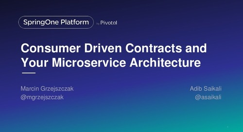 Consumer Driven Contracts and Your Microservice Architecture