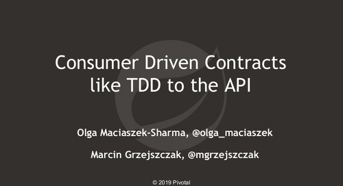 Consumer Driven Contracts like TDD to the API - Olga Maciaszek-Sharma & Marcin Grzejszczak