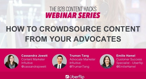 How to Crowdsource Content From Your Advocates