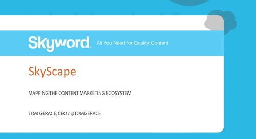Content Marketing Ecosystem SkyScape