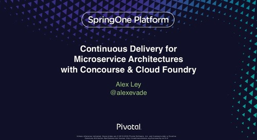 Continuous Delivery for Microservice Architectures with Concourse & Cloud Foundry