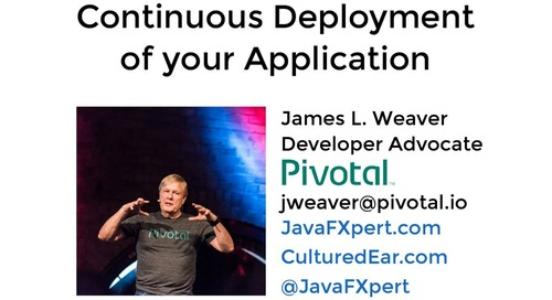 Continuous Deployment of your Application - SpringOne Tour - Boston