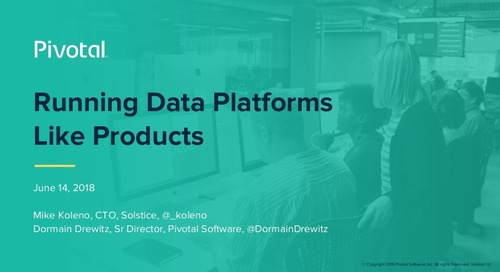 Running Data Platforms Like Products