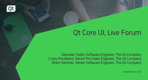 Qt Core UI, Live Forum