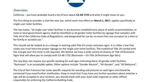California AB 1732 Restroom Signs