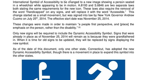 New York Accessibility Symbol Laws