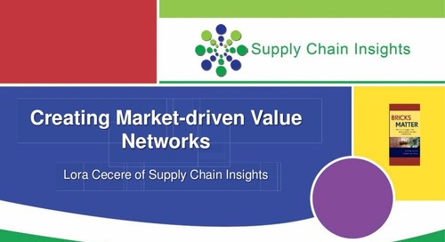 "inSIGHT 2013 Lora Cecere ""Market Driven Value Networks"""
