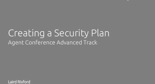 Creating a Security Plan for Your Agency - Laird Rixford
