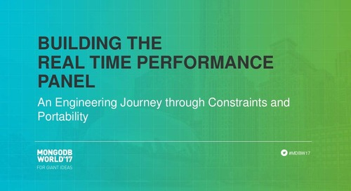 Building the Real-Time Performance Panel